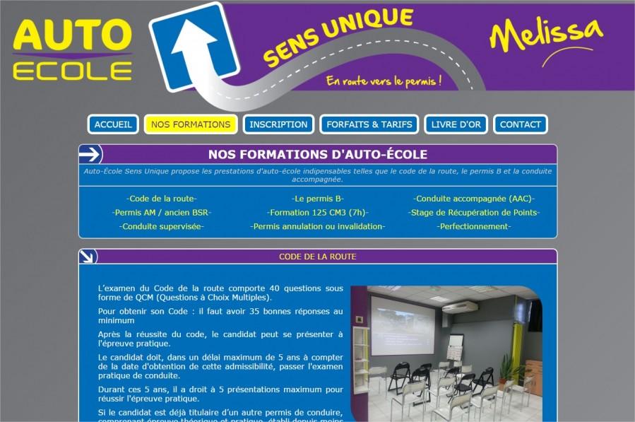 apercu site autoecolesensunique Vitrine @rt'